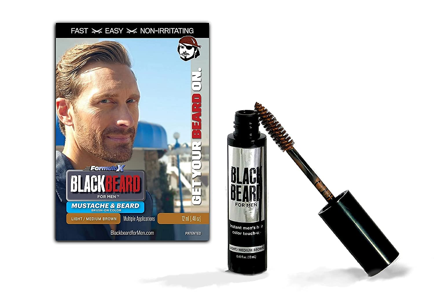 Directly managed store Blackbeard for Men Formula X an Beard Mustache Super special price Instant Eyebrow
