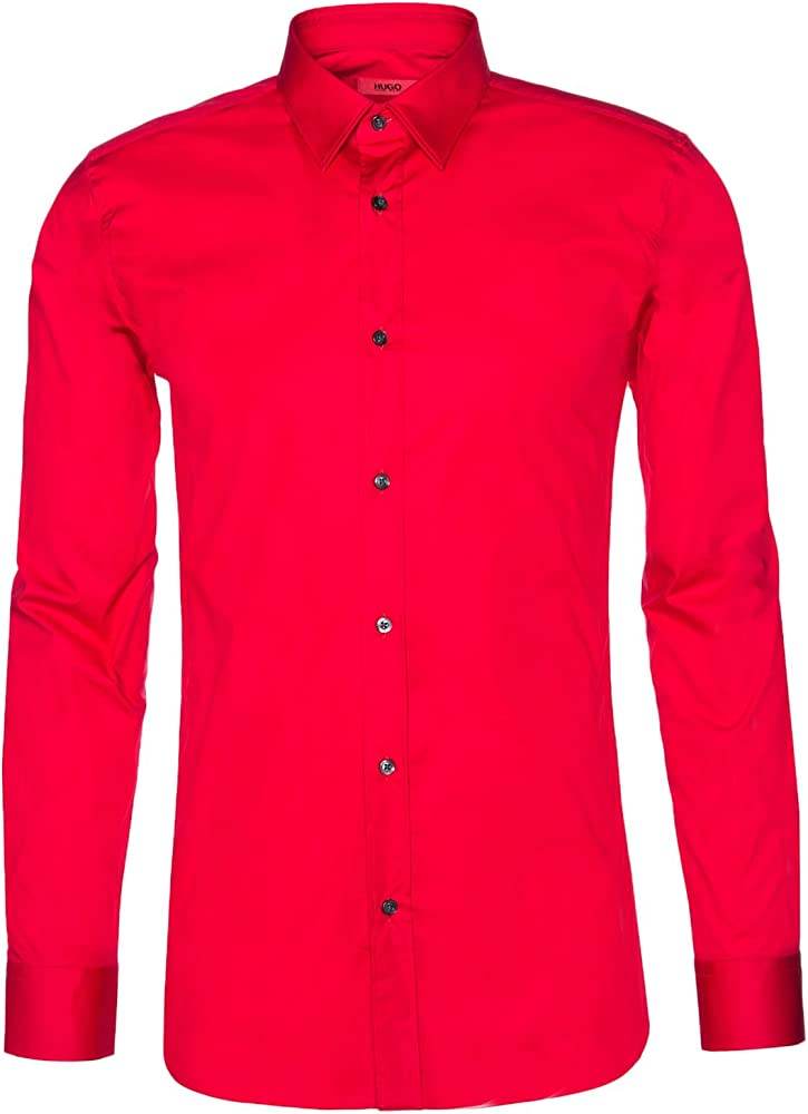 Hugo boss, camicia casual per uomo, 95% cotone, 5% elastan. 50237804R