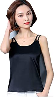 Summer Women Tank Tops Fashion Silk Blouse Slim Sleeveless Blusa Feminina Cool Tees Shirts Plus Size 3XL