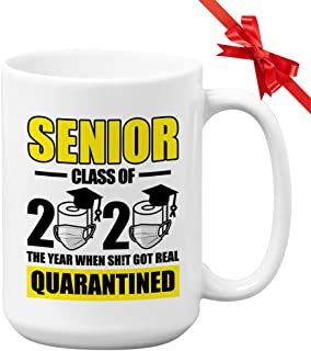 Cor-Ona Coffee Mug - Senior Class Of 2020 The Year When Shit Got Real - 2020 Survival Kov-Id 19 With No Toilet Paper Quara...