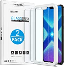 OMOTON 9H Hardness HD Tempered Glass Screen Protector for Honor 8X, 6.5 Inch, 2 Pack