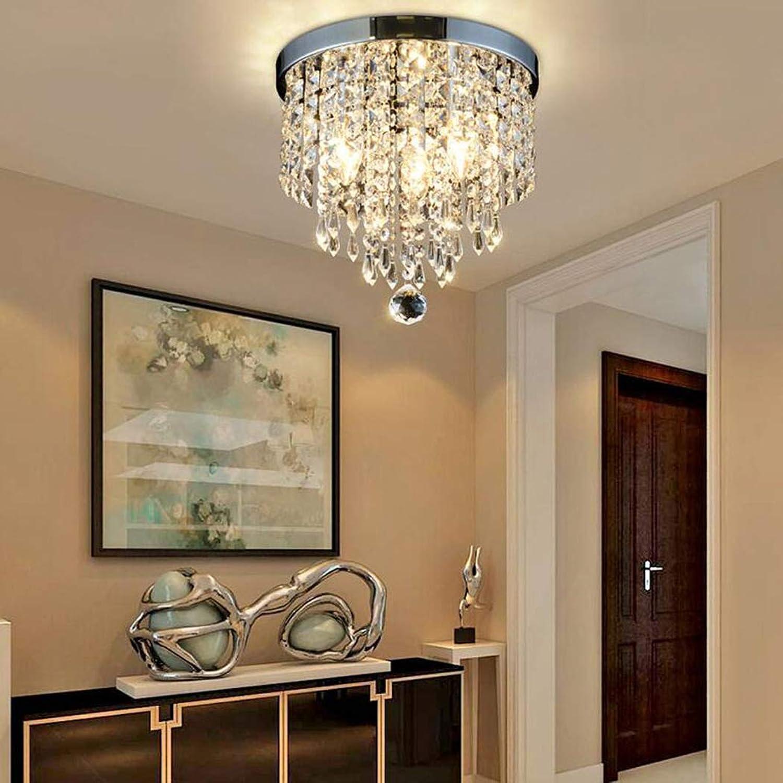 Kristall-Kronleuchter, moderne hngende Deckeneinbauleuchten, 1 Leuchte, Moderner Stil, geeignet für Flur, Wohnzimmer, Esszimmer