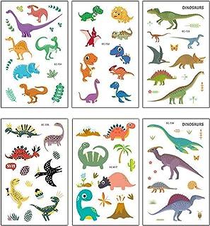 NUOBESTY Temporary Tattoos Animal,Dinosaur Waterproof Tattoo Stickers Kids Cartoon Tattoos Kit Dinosaurs Water Transfer Te...
