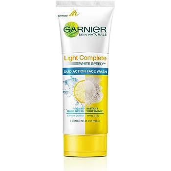 Garnier Skin Naturals Light Complete Duo Action Facewash, 100g