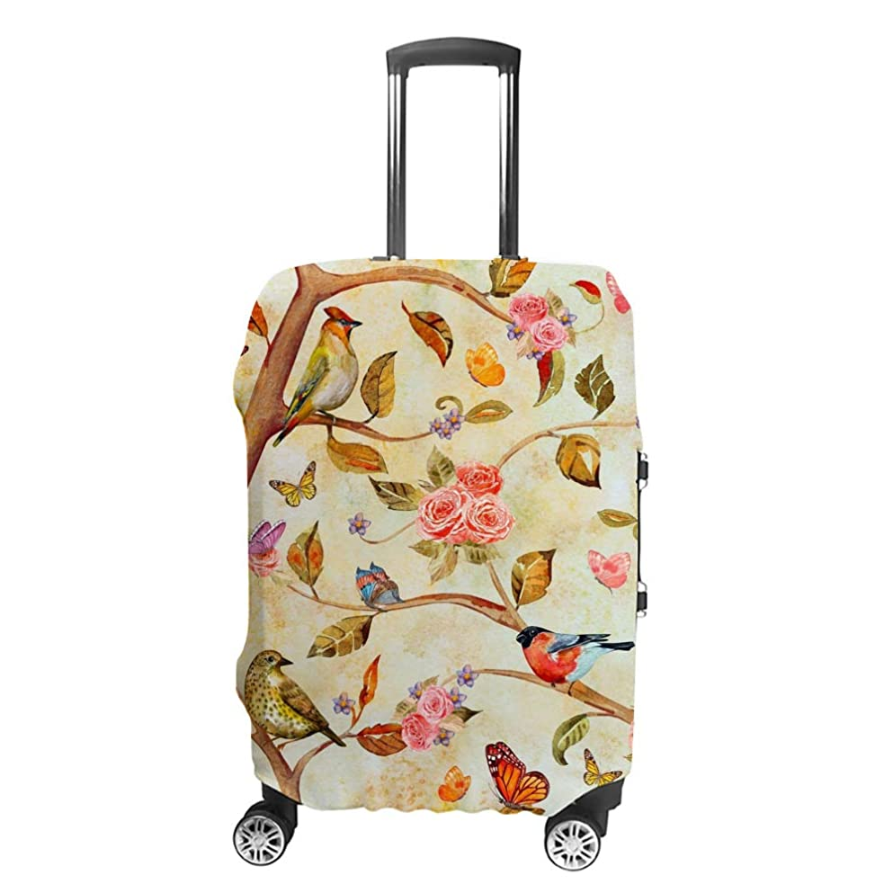 情熱的財政永久にスーツケースカバー トラベルケース 荷物カバー 弾性素材 傷を防ぐ ほこりや汚れを防ぐ 個性 出張 男性と女性?ファンタジーの森