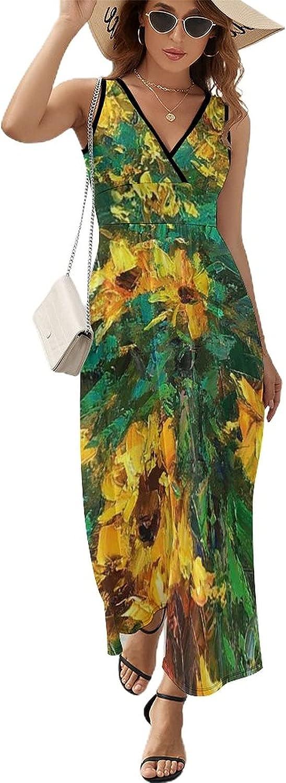Sunflower Max 48% OFF Fields Womens Sleeveless V Dresses Neck Summer New color Women S