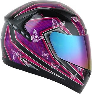 1STORM MOTORCYCLE BIKE FULL FACE HELMET BOOSTER Butterfly Pink Purple