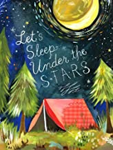 Oopsy Daisy Canvas Wall Art Let's Sleep Under The Stars by Katie Daisy, 18 by 24-Inch