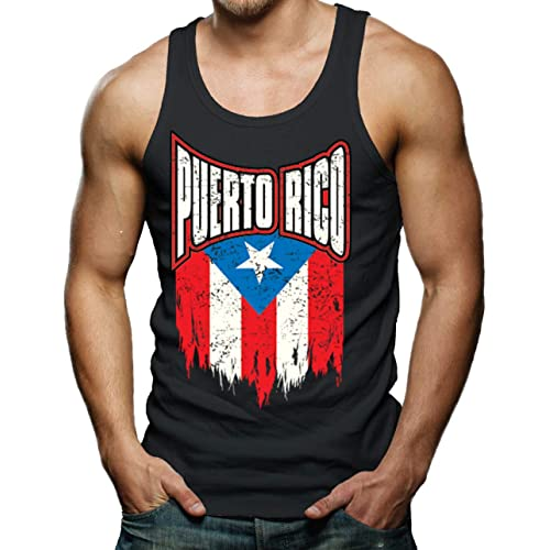 6de1285802 Over Size Puerto Rico Torn Flag Men s Tank Top
