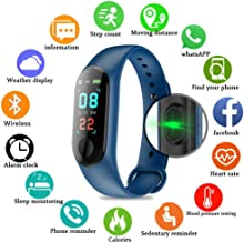 PAWACA Fitness Tracker, Color Screen Activity Tracker with Heart Rate/Sleep Monitor, IP67 Waterproof Pedometer Watch with Calorie Counter for Kids Women and Men, Android iOS