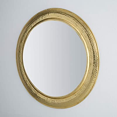 Home Centre Austin Hammered Round Mirror