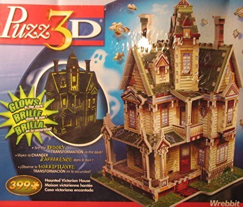 Haunted Victorian House (GFaible in the Dark), 399 Piece 3D Jigsaw Puzzle Made by Wrebbit Puzz-3D
