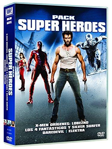 Col. Superhéroes (X-Men Orígenes: Lobezno / Los 4 Fantásticos Y Silver Surfer / Elektra / Daredevil) [DVD]