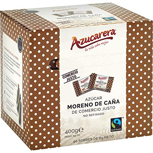 Azucarera Estuche 50 Sobres de Azúcar Moreno, 400g