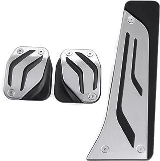 9 MOON Aluminum Sport Clutch Gas Brake Pedals Cover for BMW X1 X3 X4 X5 X6