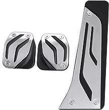 9 MOON Aluminum Sport Clutch Gas Brake Pedals Cover for BMW X1 X3 X4 X5 X6 1/2/3/5/6/7-Series E87 F20 E90 E92 E93 F30F35F34F31 3GT 5GT[MT3pcs]