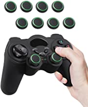 Fosmon (4 Pairs / 8 Count) Analog Stick Joystick Controller Performance Thumb Grips for Xbox One S   PS4   PS3   Xbox One   Xbox 360   Wii U   Wii Nunchuk (Black/Green)