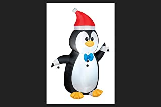 Gemmy Airblown Inflatable Penguin Wearing Tuxedo with Cuff Links - Indoor Outdoor Decoration, 3.5-foot Tall