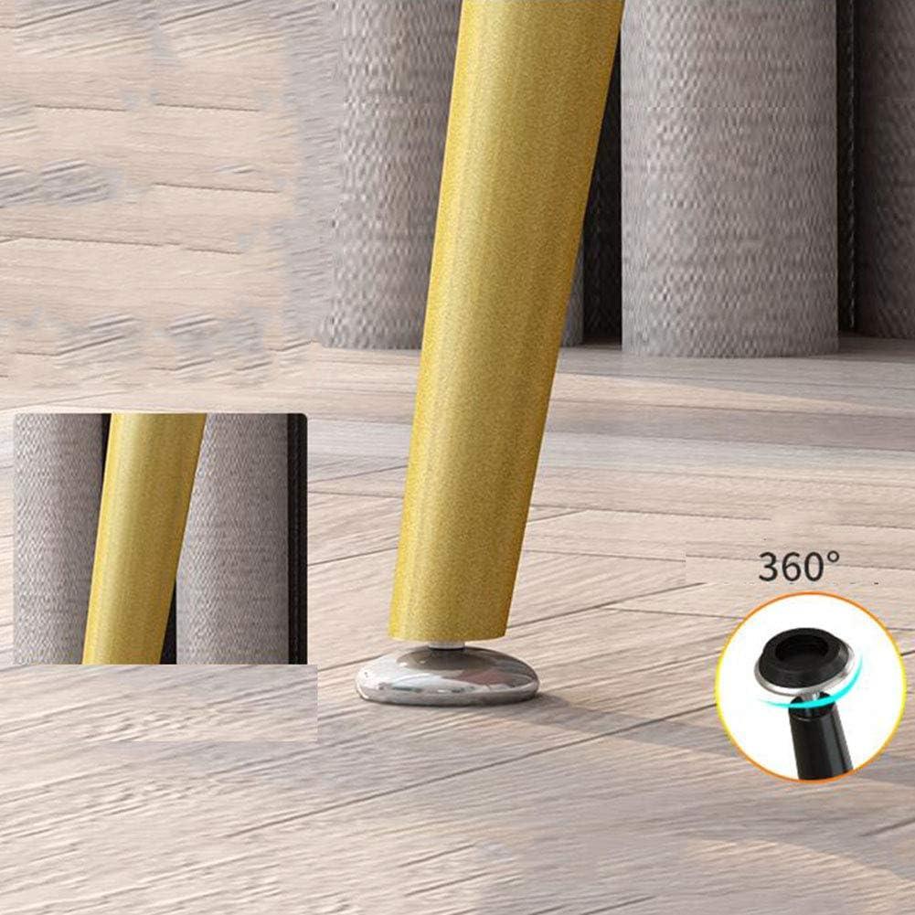 Chaises De Salle à Manger Nordiques Coussin en Velours Pieds en Métal Chaise De Maquillage avec Dossier Chaises d'angle De Loisirs Modernes Assemblée(Color:Rose) Gris Foncé
