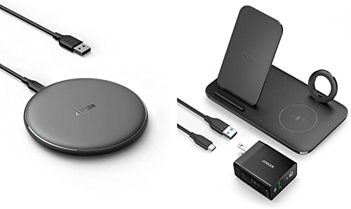 new arrival Anker outlet online sale Wireless Charger, PowerWave Pad with Wireless Charging Station, PowerWave 3 in outlet sale 1 Qi-Certified Stand outlet online sale