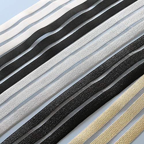 5 werven 50 mm 90 mm breedte zwart witte elastische band glitter mesh kledingstuk meisjeskleding dameskleding naaien DIY handgemaakte ambachtelijke, wit, 90 mm