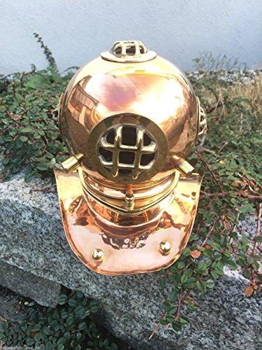 Taucherhelm Taucherglocke Taucher Maritim Helm Kupfer Messing Antik Stil H 20 cm