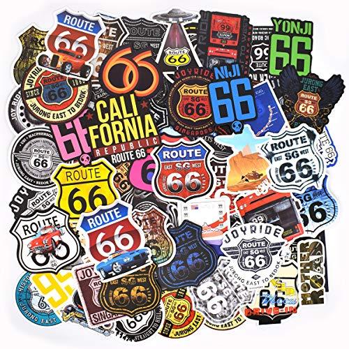 100 PCS - Adesivi Valigia, Retro Vintage Stickers per Valigia, Chitarra, PC Portatili, Auto Moto, Skateboard, Snowboard (Vintage 66)