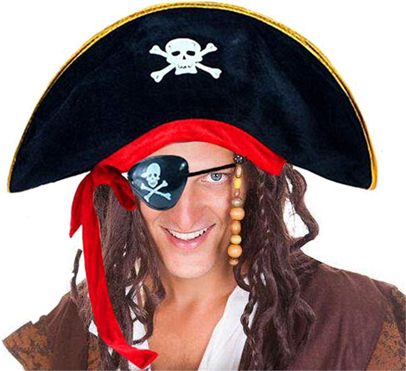 D-Fokes Pirate Hat Challenge the lowest Max 82% OFF price of Japan ☆ Party Captain Costume Masquerad Cap Halloween