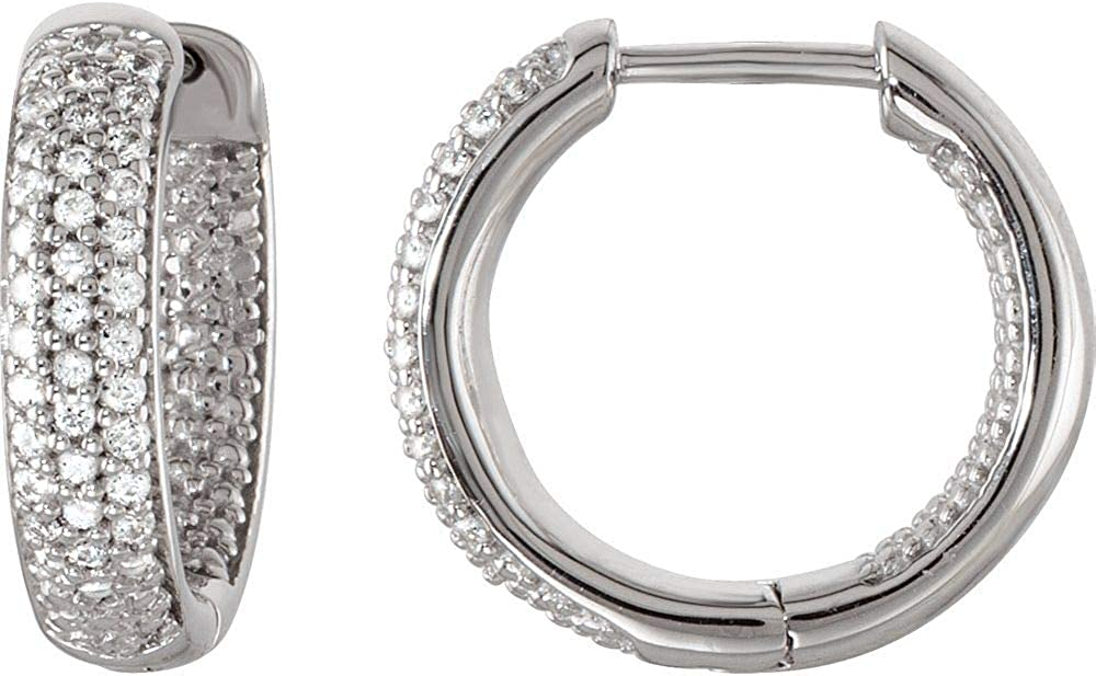 Fancy & Fashion In And Out Hinged Hoop Earrings