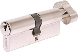 Sterling ETN3545V Thumb Turn Euro Cylinder, Nickel, 35x45mm