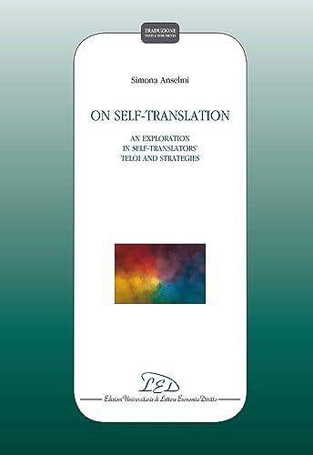 Books By Simona Anselmi_on Self Translation An Exploration In Self ...