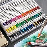 Watercolor Brush Pens, Set of 48 Colors Watercolor Markers Flexible Real Brush Tips