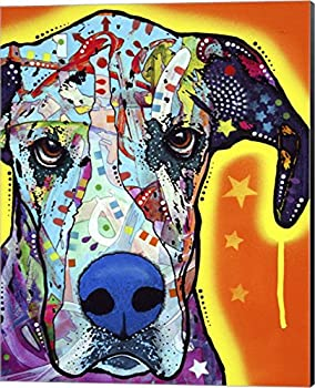 Great Dane by Dean Russo Canvas Art Wall Picture Museum Wrapped with Black Sides 16 x 20 inches