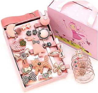 DAYONG 24PCS Baby Girl's Hair Clips Cute Hair Bows Baby Elastic Hair Ties Gift Box (C)