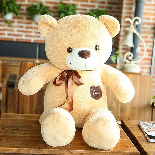 YYD Big Bear Plüschtier - ist eine Plüschpuppe für Kinder Freundinnen,Khaki,80cm