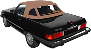 Sierra Auto Tops Mercedes 1972-1989 SL Series (R107) Convertible Top, TwillFast II Canvas, Beige