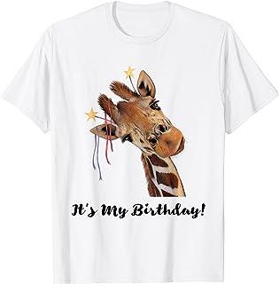 It's My Birthday Good Time Giraffe Party Animal T-Shirt