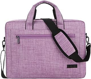 DNSJB Business Office Tablet Briefcase Handbag 14/15 Inch Laptop Polyester Slim Shoulder Bag (Color : Purple, Size : 15 in)