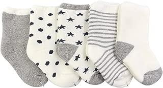 Unisex Baby Boys Girls Newborn Looped Pile Socks (Pack of 5)