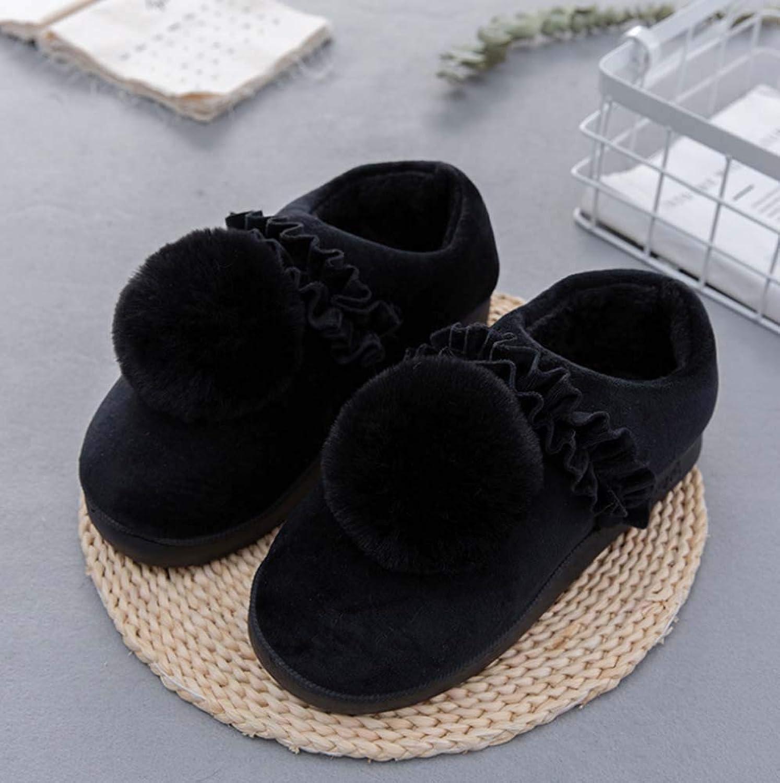 Ladies Comfort Memory Foam Women Slippers Short Plush Lining Anti-Slip Sole Slip On Slippers Indoor Outdoor