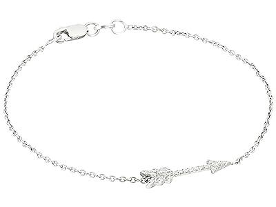 Roberto Coin Tiny Treasures Arrow Bracelet with Diamonds (White Gold) Bracelet