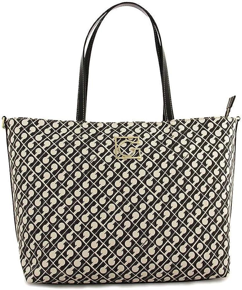 Gherardini millerighe fashion shopper, borsa a spalla/tracolla da donna, in pelle sintetica