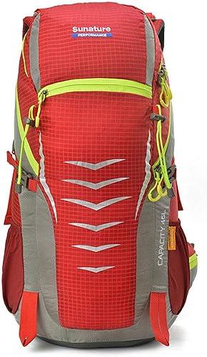 Grtodnz Sac à Dos de Grande capacité léger pour la randonnée, Trekking de Camping décontracté, résistant à l'eau et Multifonctionnel, pour Le vélo, Le Voyage, l'alpinisme et Le Sport de Plein air,rouge
