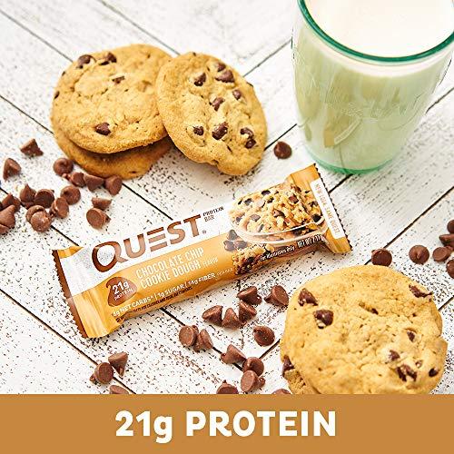Quest(クエスト)栄養プロテインバーチョコレートチップ入りクッキー生地1個60g(2.1オンス)12個[海外直送品]