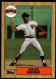 Baseball MLB 1987 Topps Tiffany #633 Jose Uribe Giants