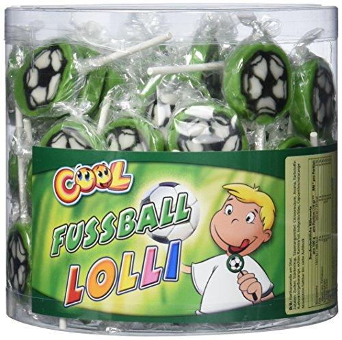 Cool Fussball Lolli handgefertigt 100 Stück x 10 g, 1er Pack (1 x 1 kg)