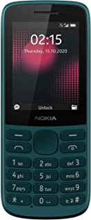 (Renewed) Nokia 215 4G Dual SIM 4G Phone with Long Battery Life, Multiplayer Games, Wireless FM Radio and Durable Ergonomi...