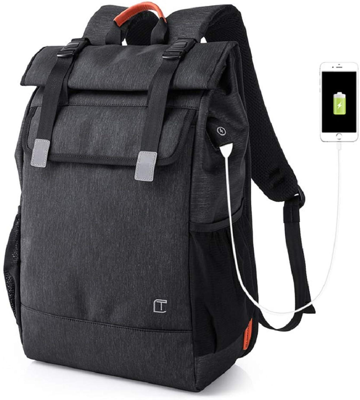 WSJ USB-Ladecomputer-Rucksack Mit USB-Ladeschnittstelle, Anti-Diebstahl-Sicherheitsdesign, Stilvolle Groe Reisetasche