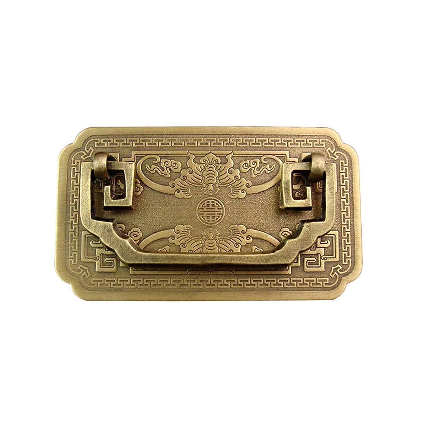 代わって動かない宣言ドアハンドル 繁体字中国語スタイルの家具用真鍮ハンドル、レトロヴィンテージクラシックアンティークブロンズキャビネットドア引き出しハンドル、ネジ込み このアームレストは、トイレ、キッチン、階段、バスルーム、ランドリールームで広く使用されています (Color : Antique bronze, Size : 10.5x6cm)