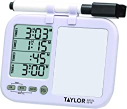 Taylor Precision Products (Regular) Taylor Four-Event Digital Timer with Whiteboard for School, Learning, Projects, and Ki...